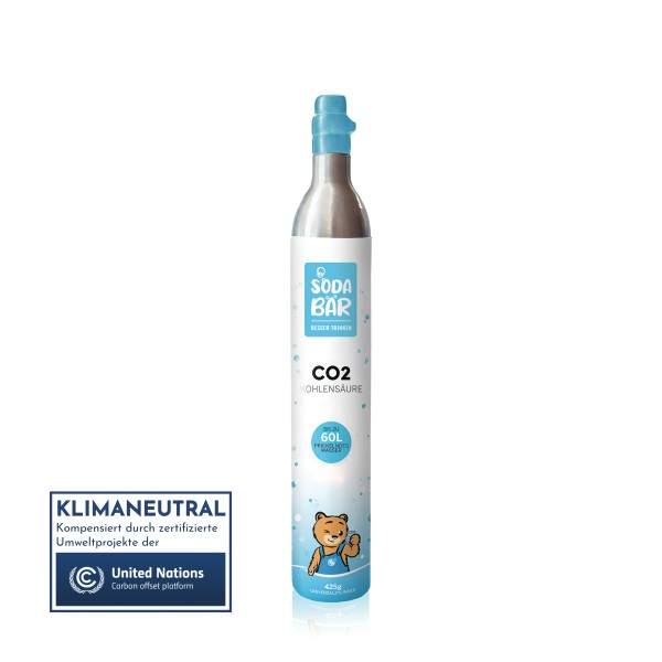 Aluminium CO2-Kaufzylinder 425g (60 l) für SodaStream, Wassermaxx, uvm.