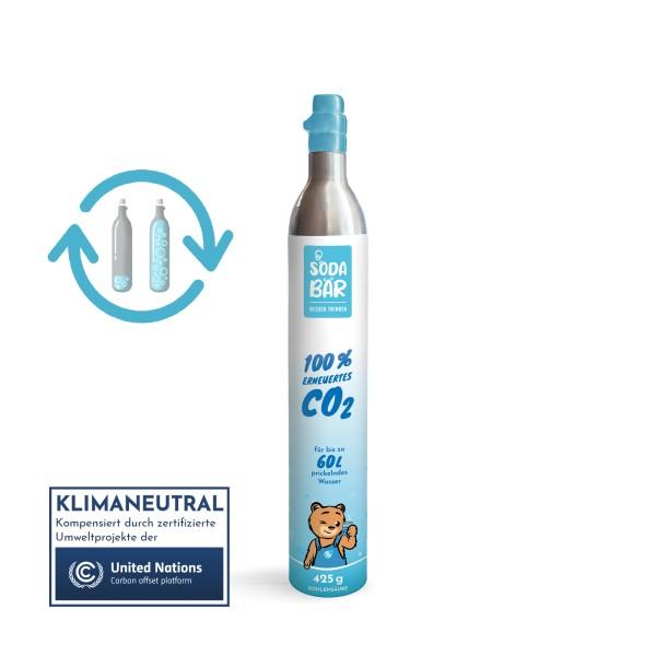 CO2-Tauschzylinder Kohlensäure FÜLLUNG SodaBär© 425g (60 l) passend zu Soda Stream, Wassermaxx, uvm.